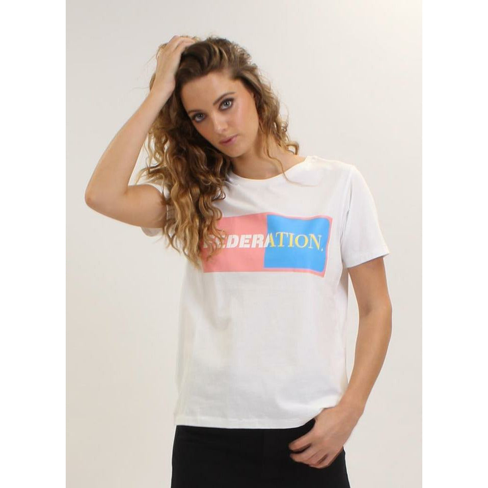Federation Ace Duo Tee - White