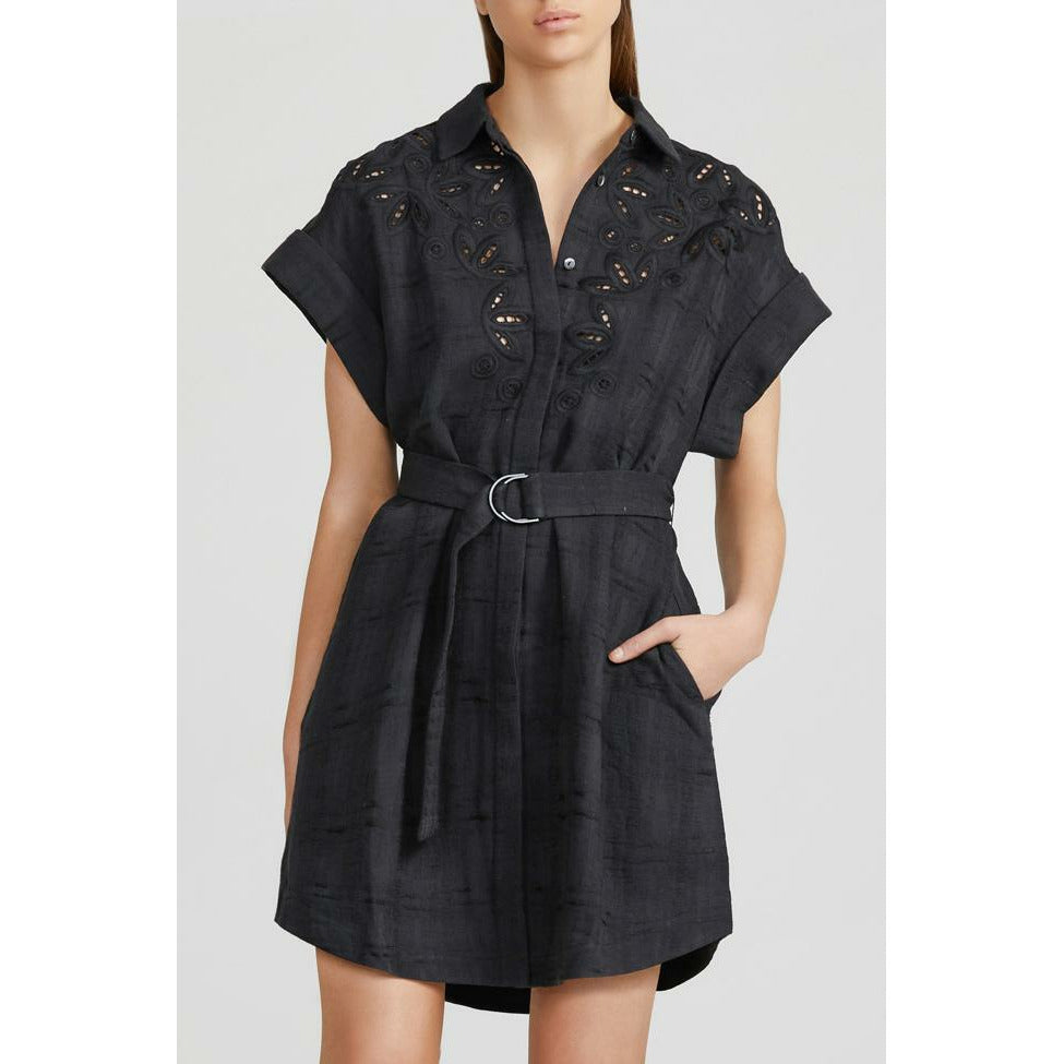 Acler Sierra Shirt Dress - Black