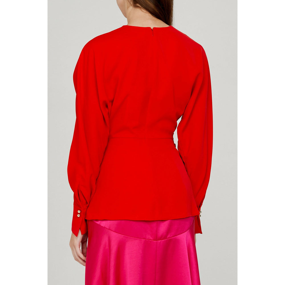 Acler Bercy Blouse - Cherry