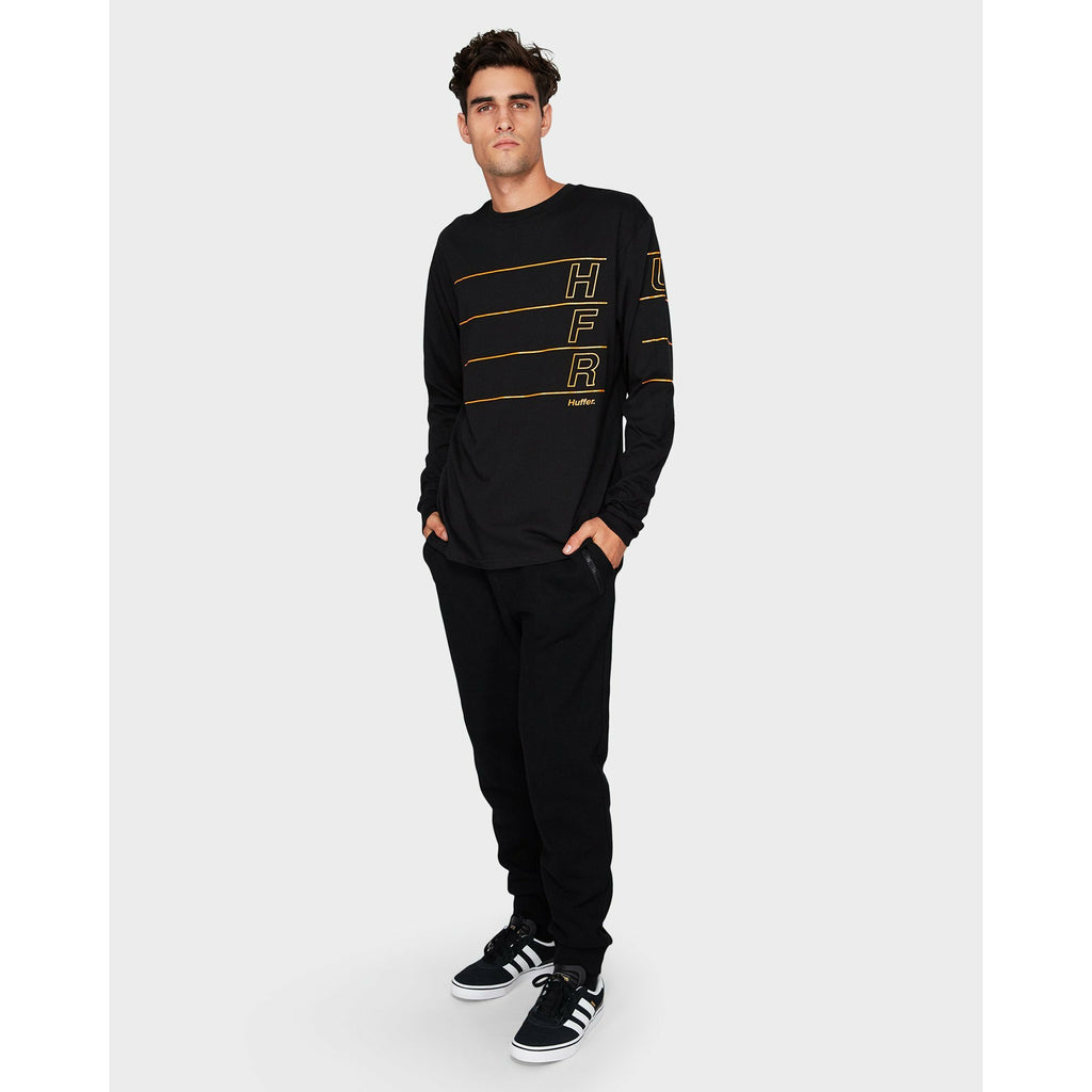 Huffer LS Linear Sup Tee - Black