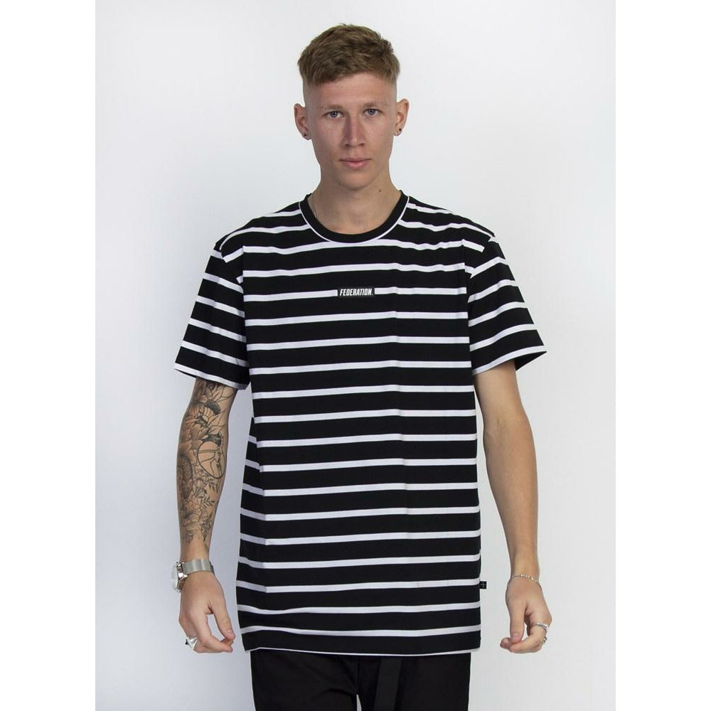 Federation Aye Tee (Badge) - Black/White