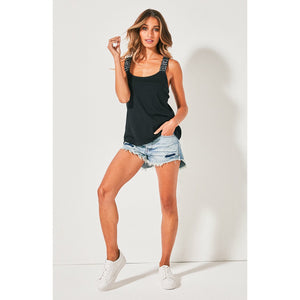 Cartel & Willow Cross Court Singlet - Black