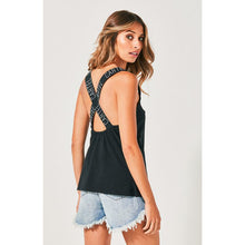 Load image into Gallery viewer, Cartel & Willow Cross Court Singlet - Black