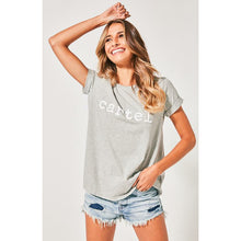 Load image into Gallery viewer, Cartel & Willow Beaded Tee - Grey Marle