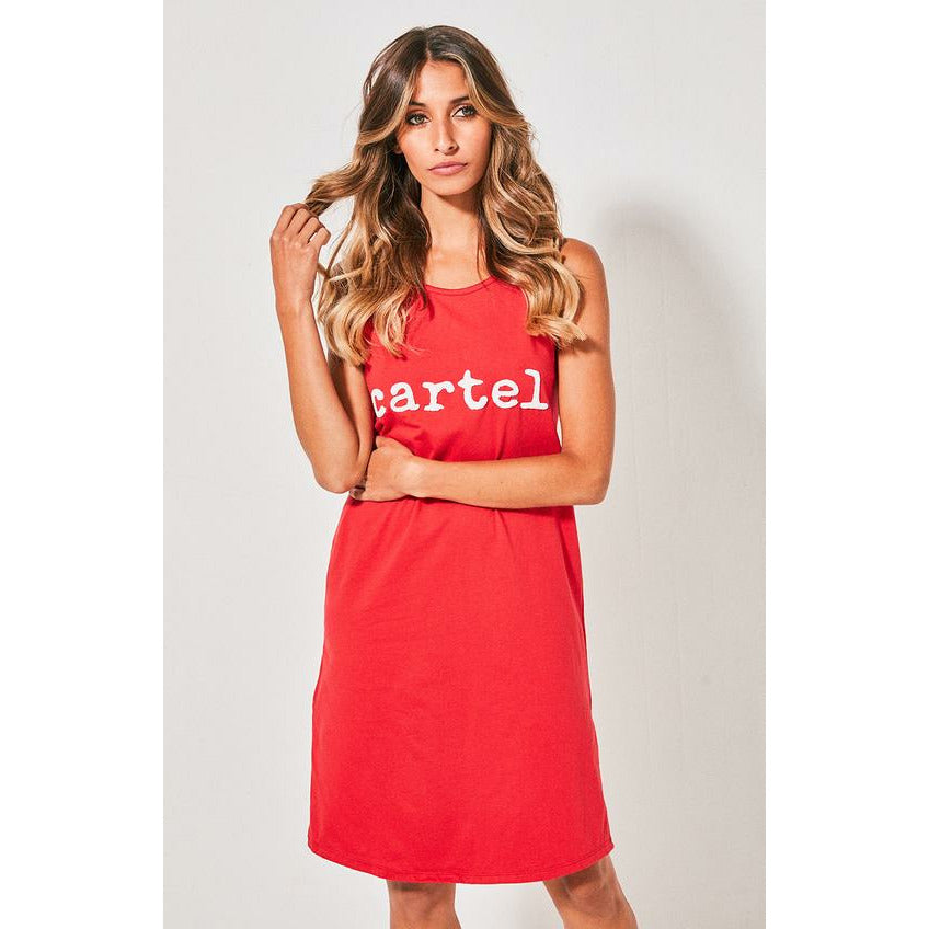Cartel & Willow Beaded Tank Dress - Red