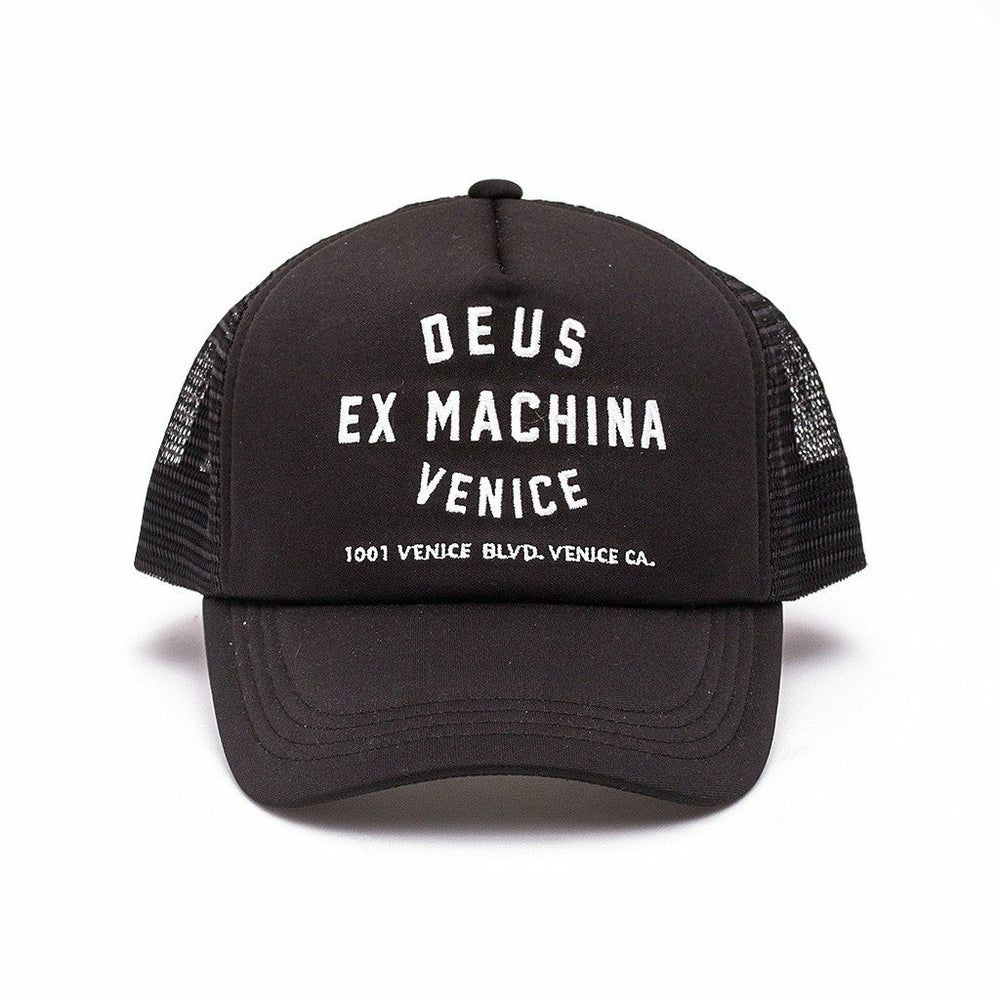 Deus Venice Address Trucker - Black