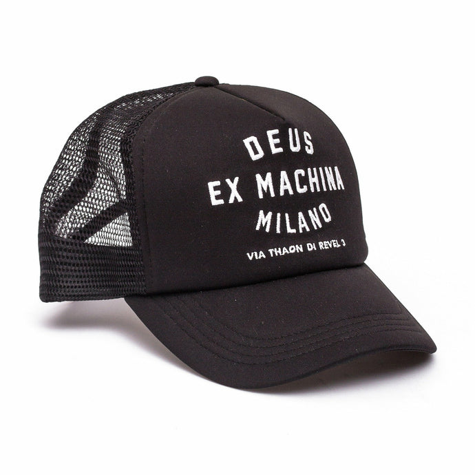 Deus Milano Address Trucker - Black