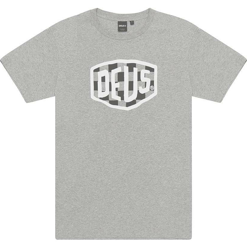 Deus Ex Machina Moto Shield Tee - Grey Marle