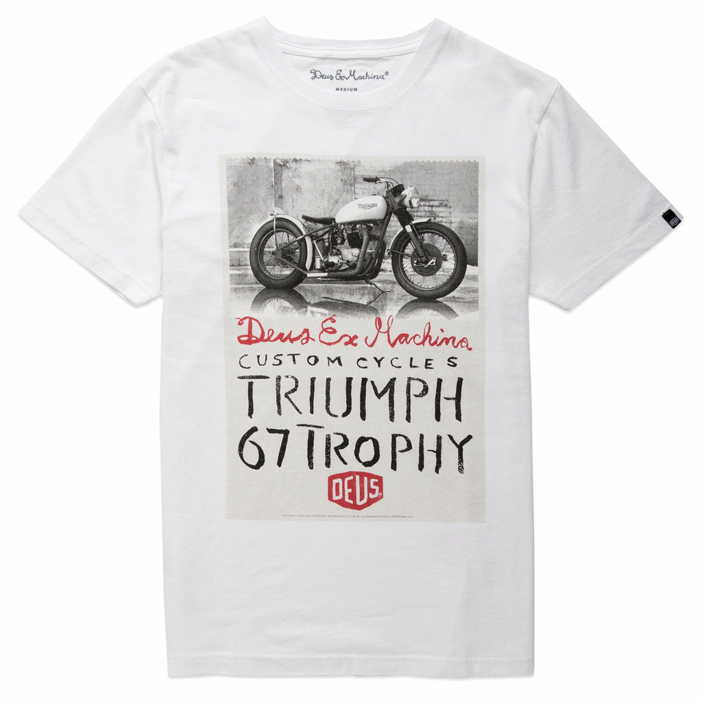 Deus Ex Machina Triumph Trophy Tee - White