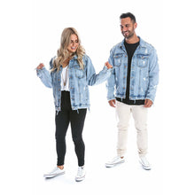 Load image into Gallery viewer, Beau Hudson Distressed Denim Jacket