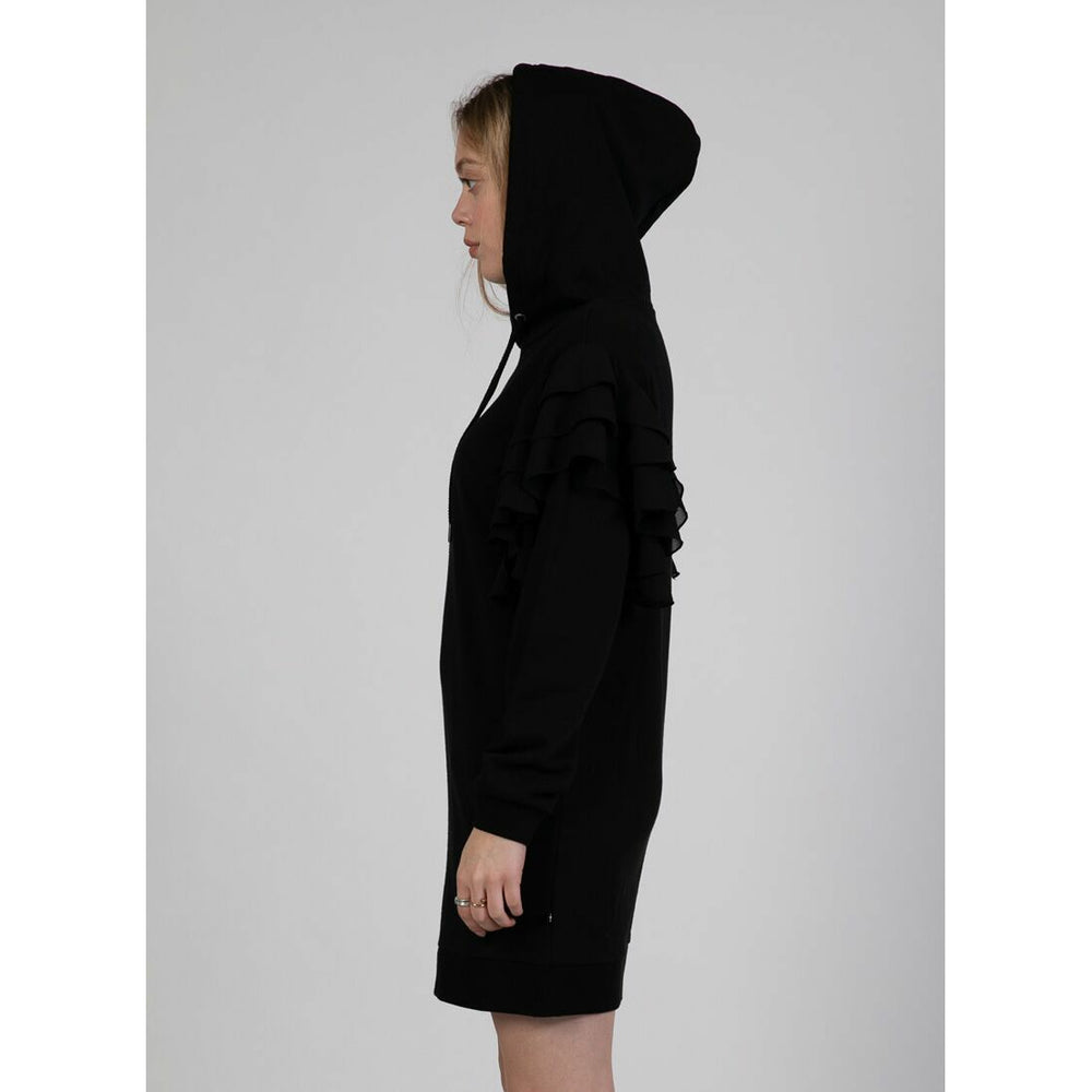 Federation Butterfly Hoodie Dress - Black