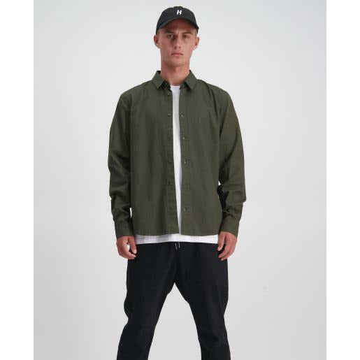 Huffer LS Finn Shirt - Military