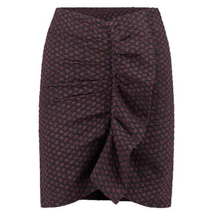 Rough Studios Kendra Skirt - Burgundy/Green