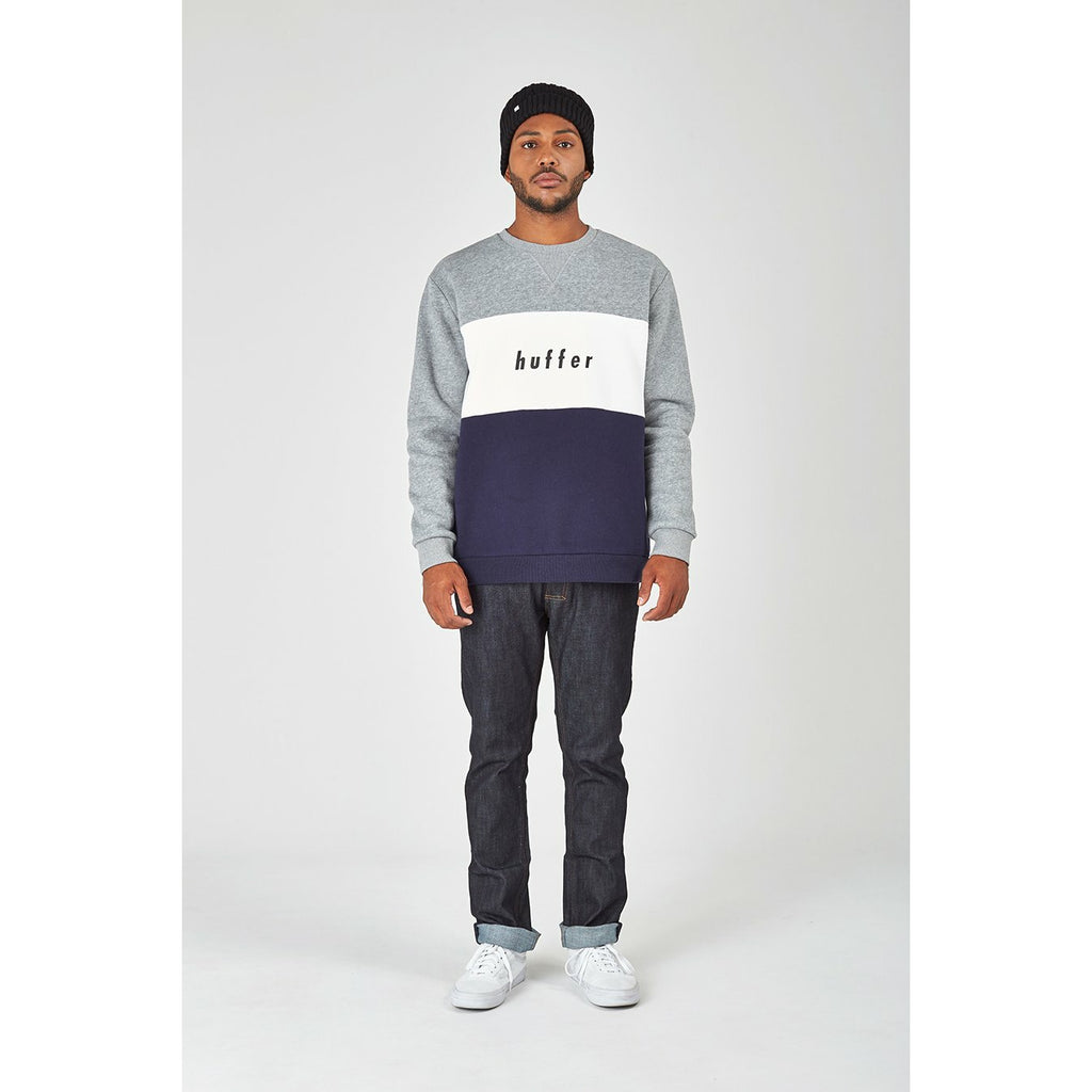 Huffer Team True Crew 2.0 - Grey Marle/Navy