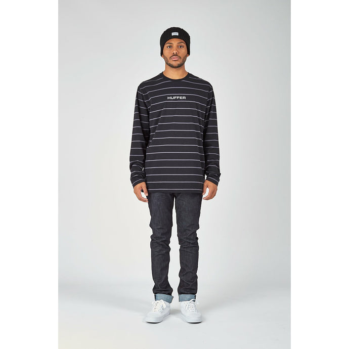 Huffer Stealth LS Tee - Black/Charcoal
