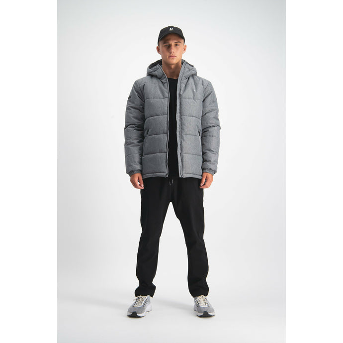 Huffer Classic Down Jacket - Herringbone Grey