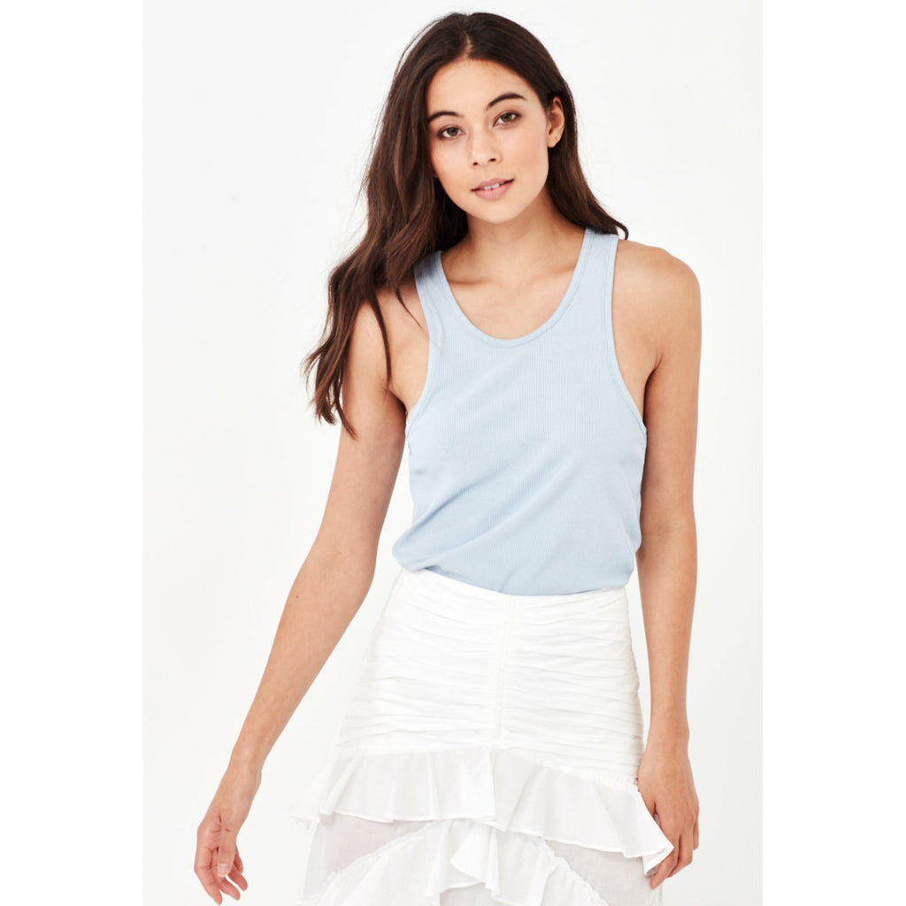 Remain Tammy Ribbed Tank - Powder Blue