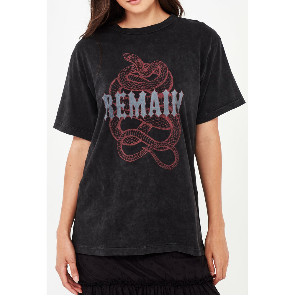 Remain Rogue Tee - Aged Black