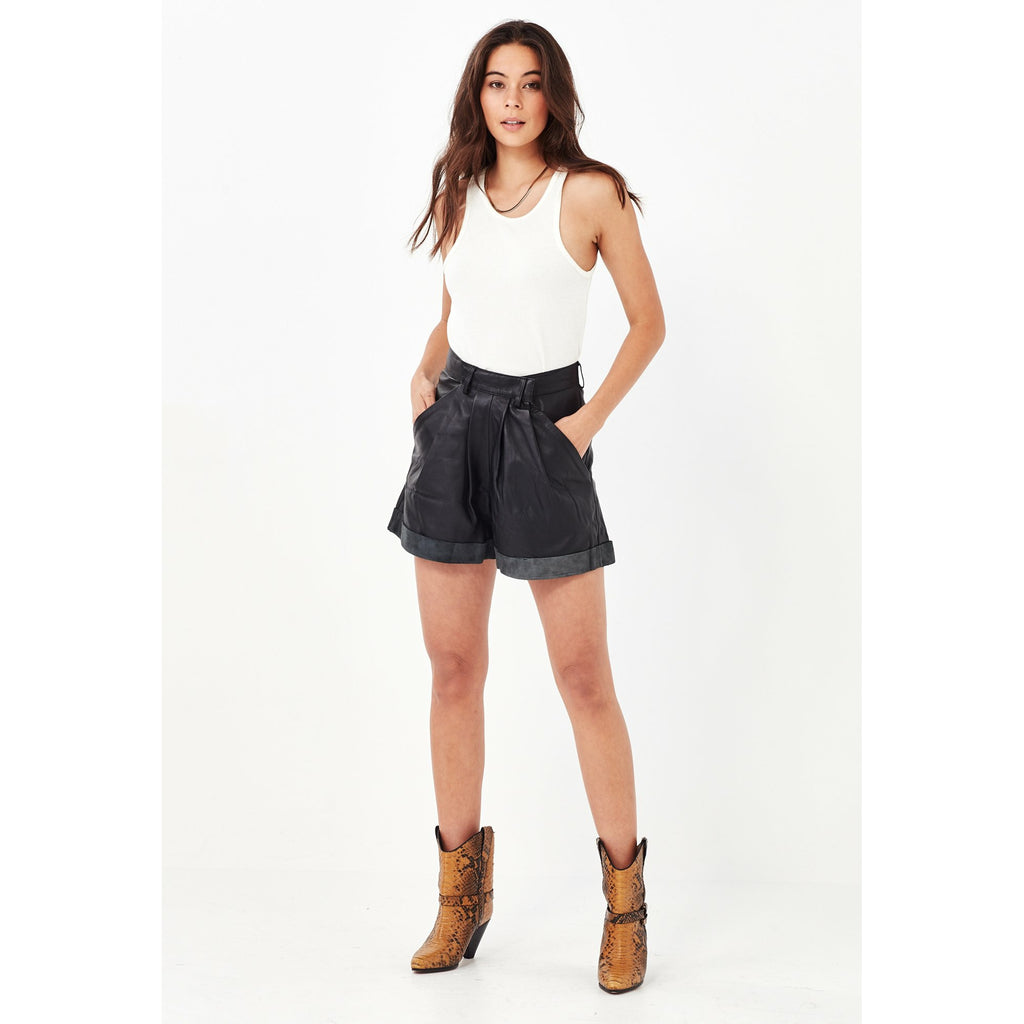 Remain Arizona Leather Shorts - Black