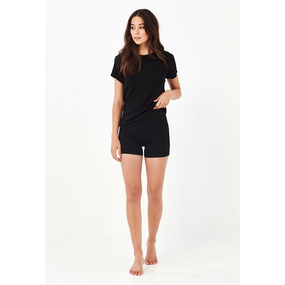 Remain Leah Ribbed Bike Short - Black