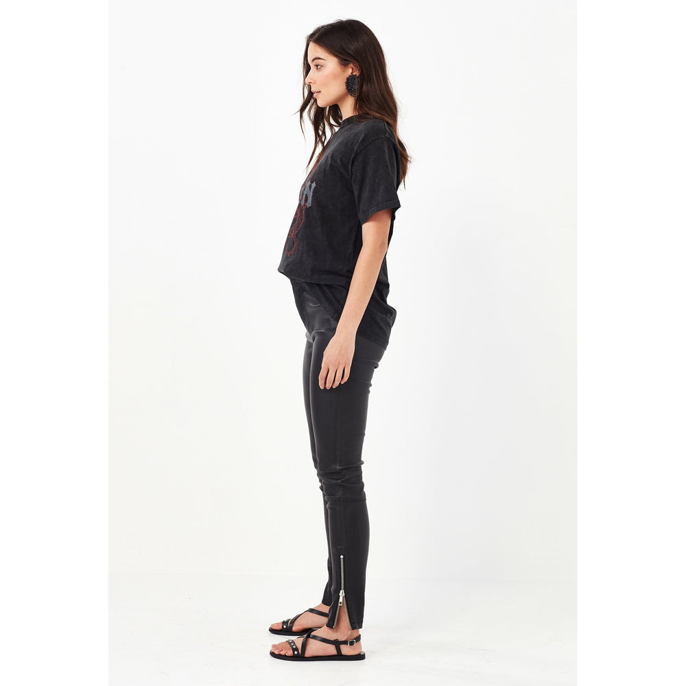 Remain Alexis Leather Pant - Black