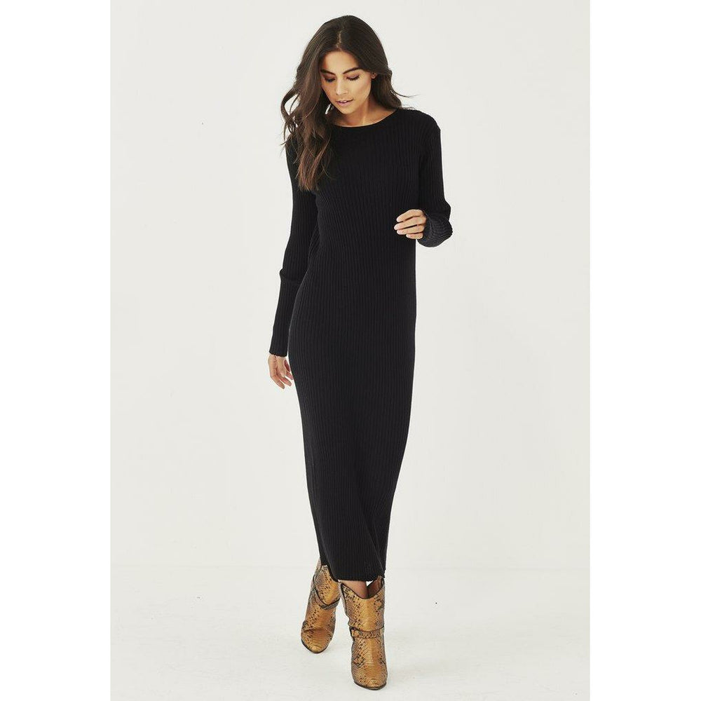 Remain Lou Knit Dress - Black