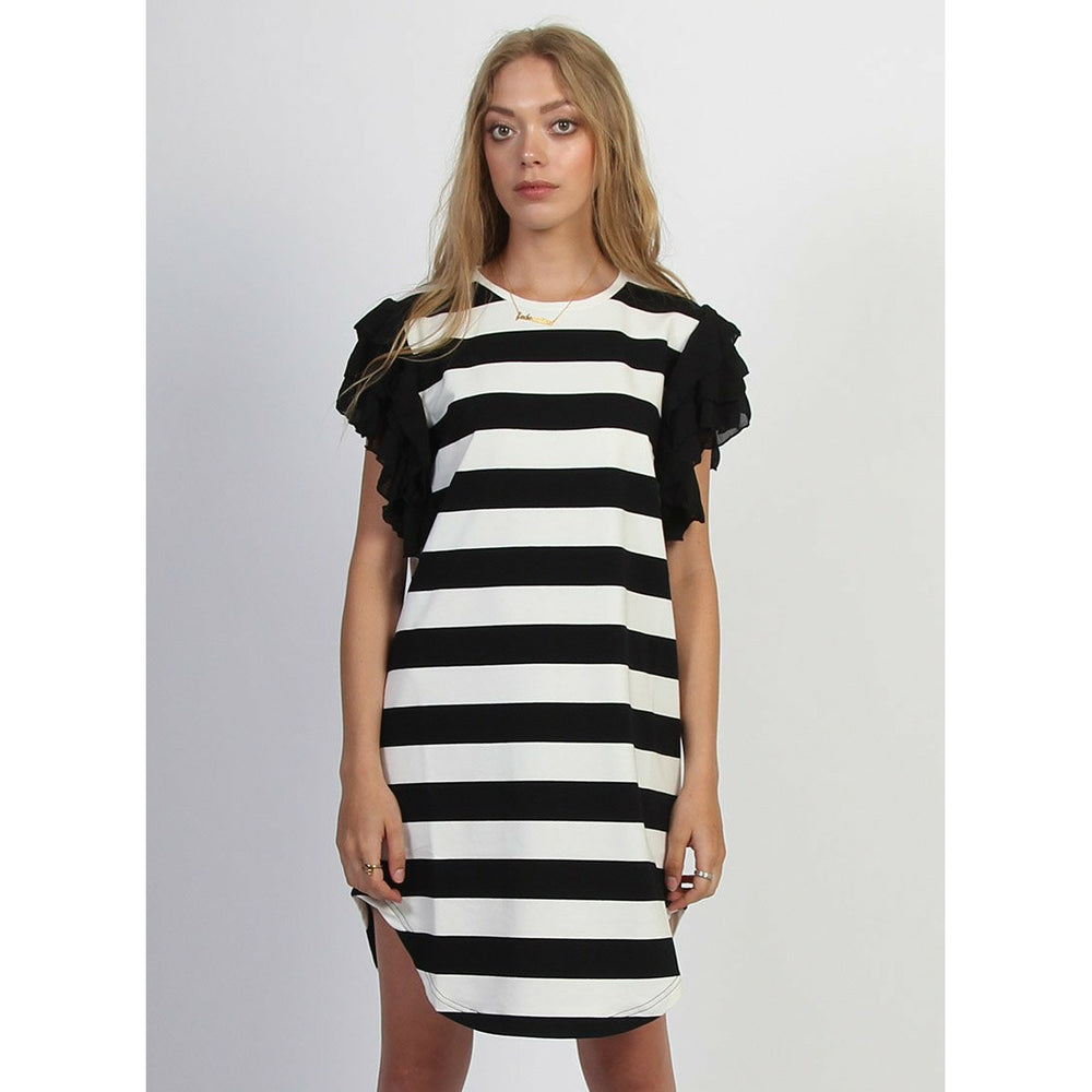 Federation SS Butterfly Dress - Black