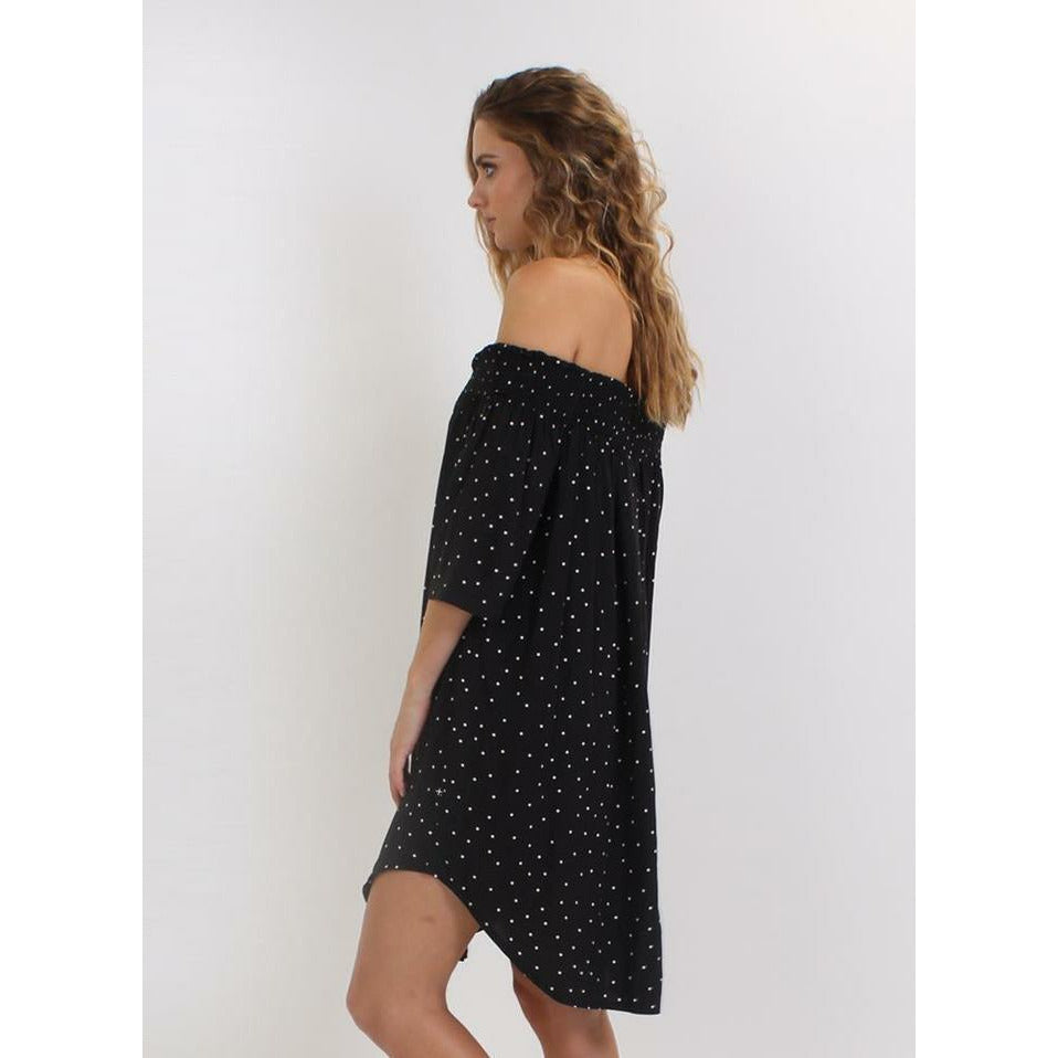 Federation SS Petal Dress - Black
