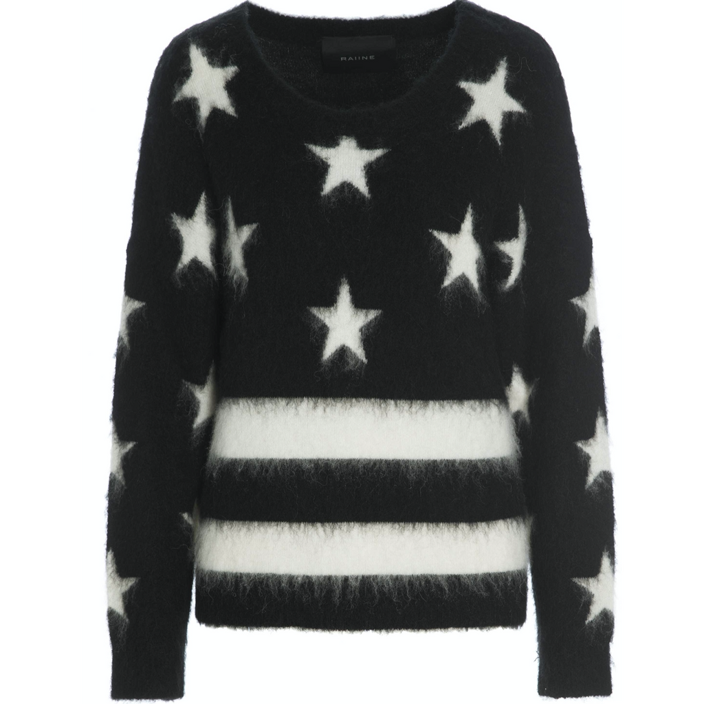 Raiine Frisco Knit - Black/White