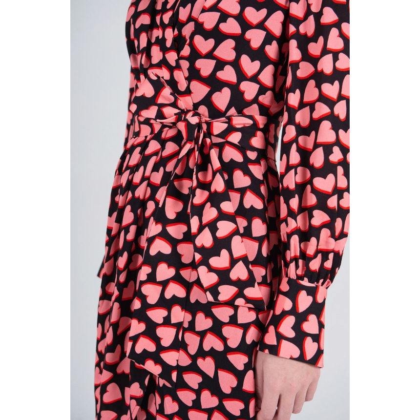 Rebecca Vallance Hotel Beau Mini Dress - Pink/Black Print