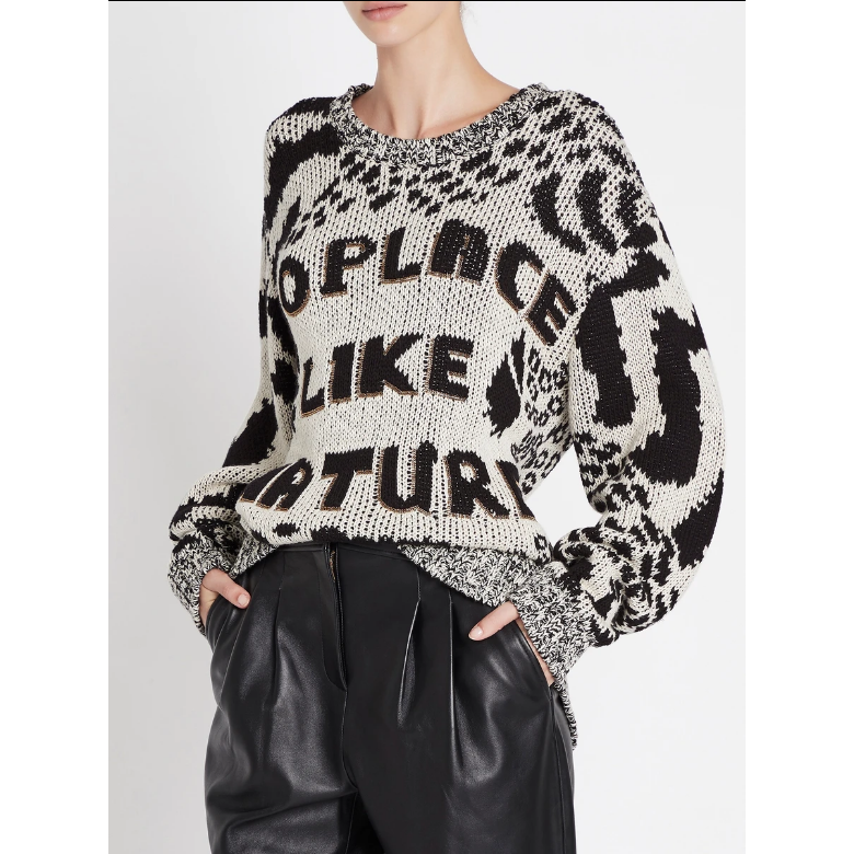 Sass and Bide No Place Like Nature Knit - Black/Ivory