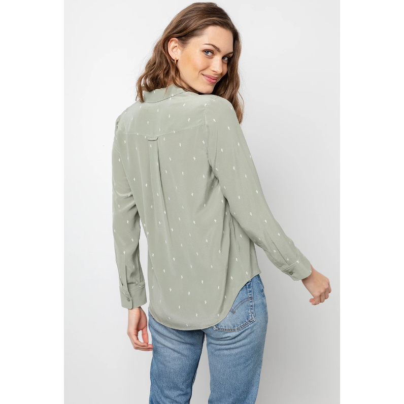 Rails Kate Silk Shirt - Mint Cactus