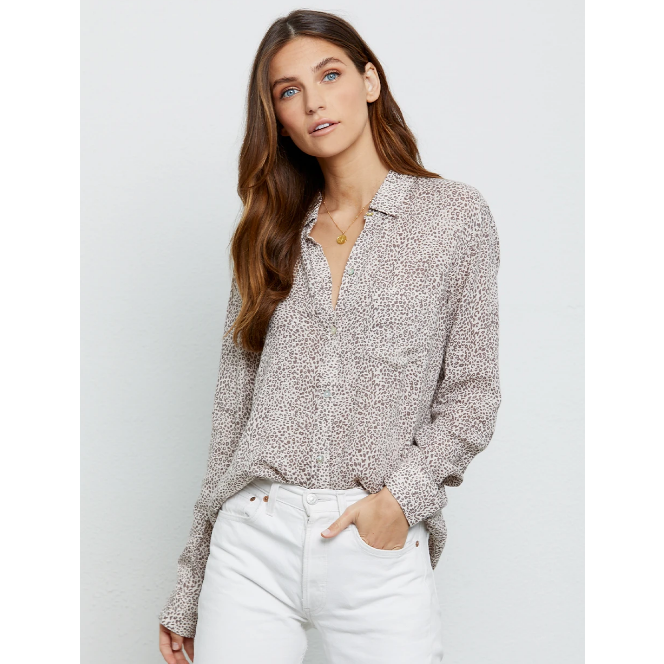 Rails Charli Shirt - Sand Cheetah