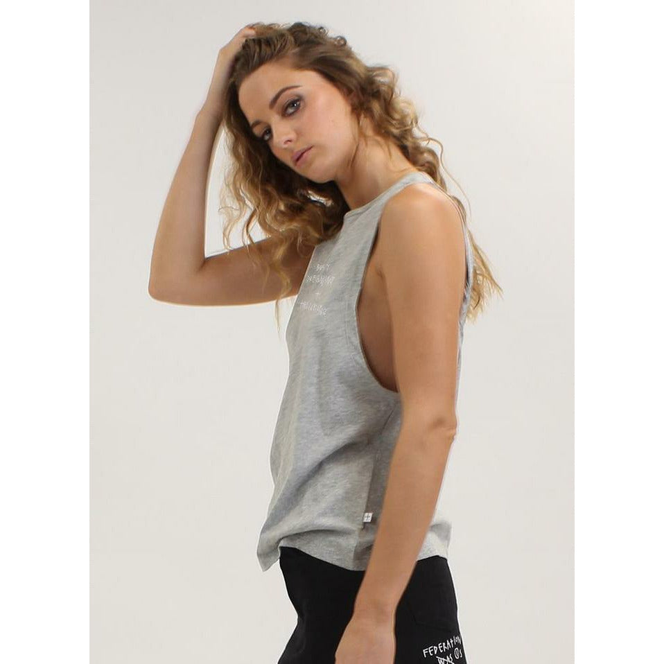 Federation Twisted. Tank - Grey Marle
