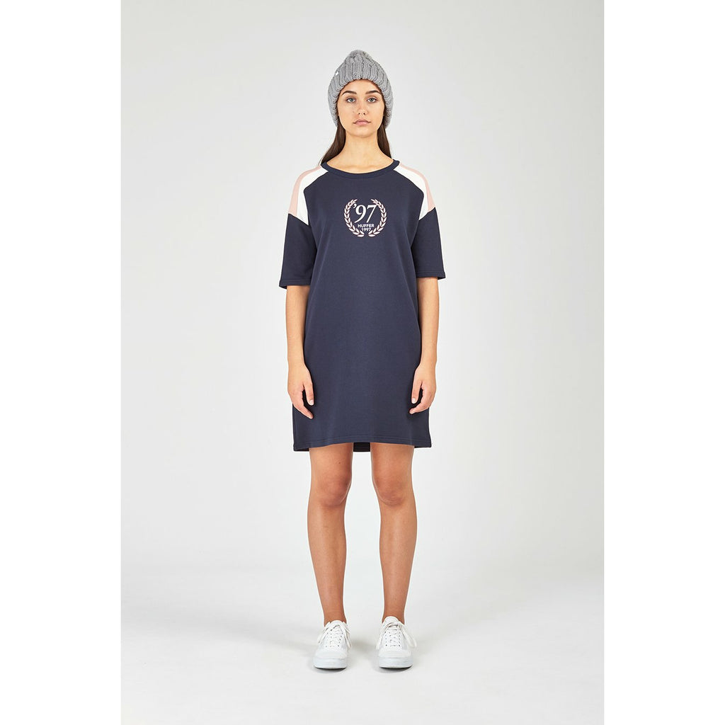 Huffer Rise T-Shirt Dress - Navy