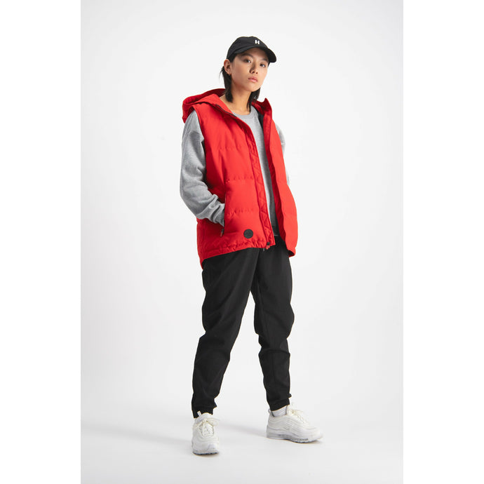 Huffer Womens Street Down Vest - Red