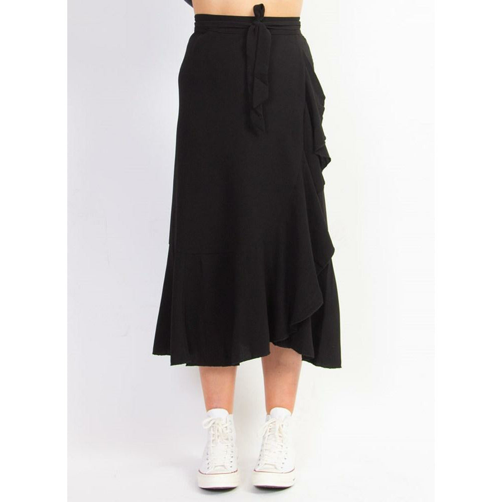Federation Wrap Me Skirt - Black