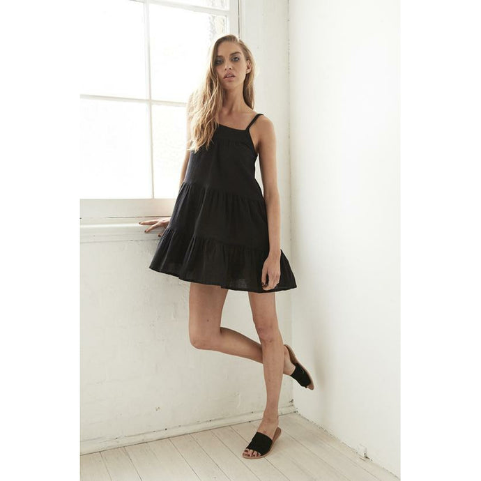 Cartel & Willow Abby Mini Sun Dress - Black