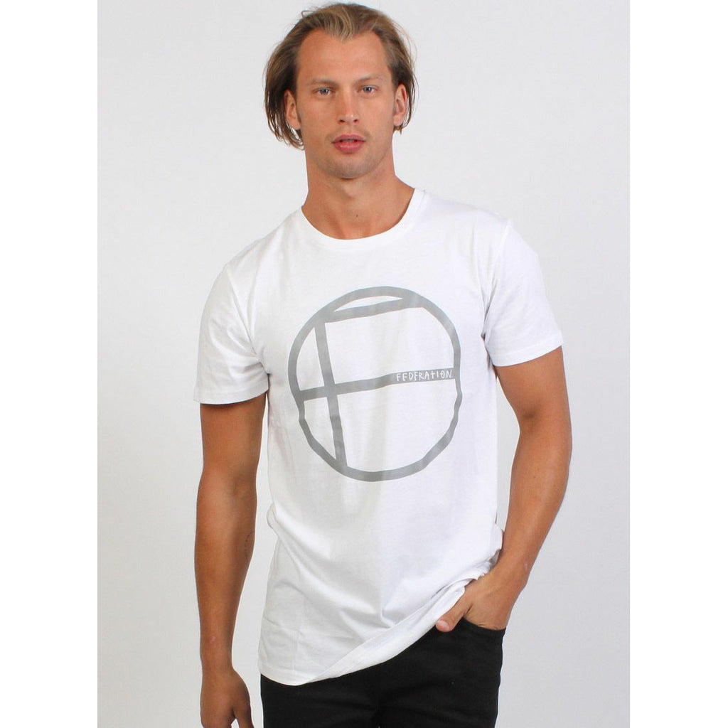 Federation Aye (Circles) Tee - White