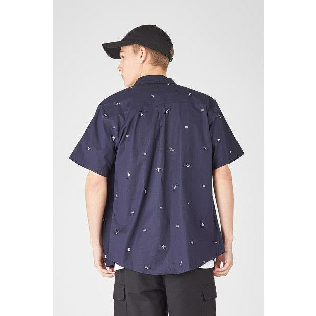 Huffer Beach Antics SS Shirt - Navy