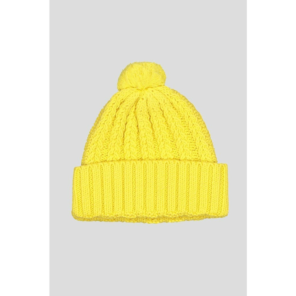Huffer Pom Pom Beanie - Acid Yellow
