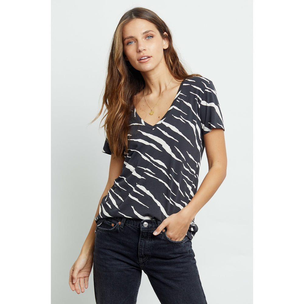 Rails Cara Black Abstract Tiger Tee - Black
