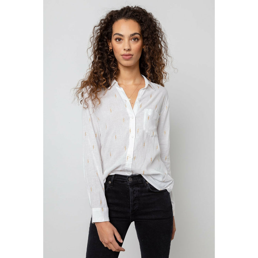 Rails Charli White Gold Electric Shirt - White