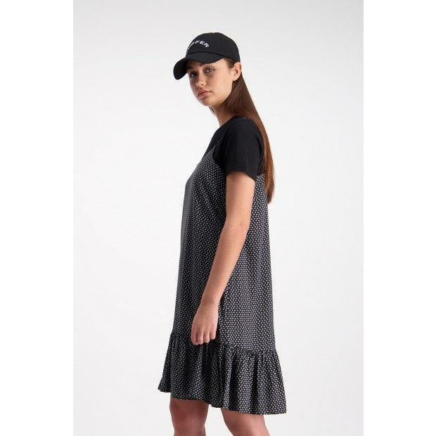 Huffer Circles Georgia Dress - Black/White