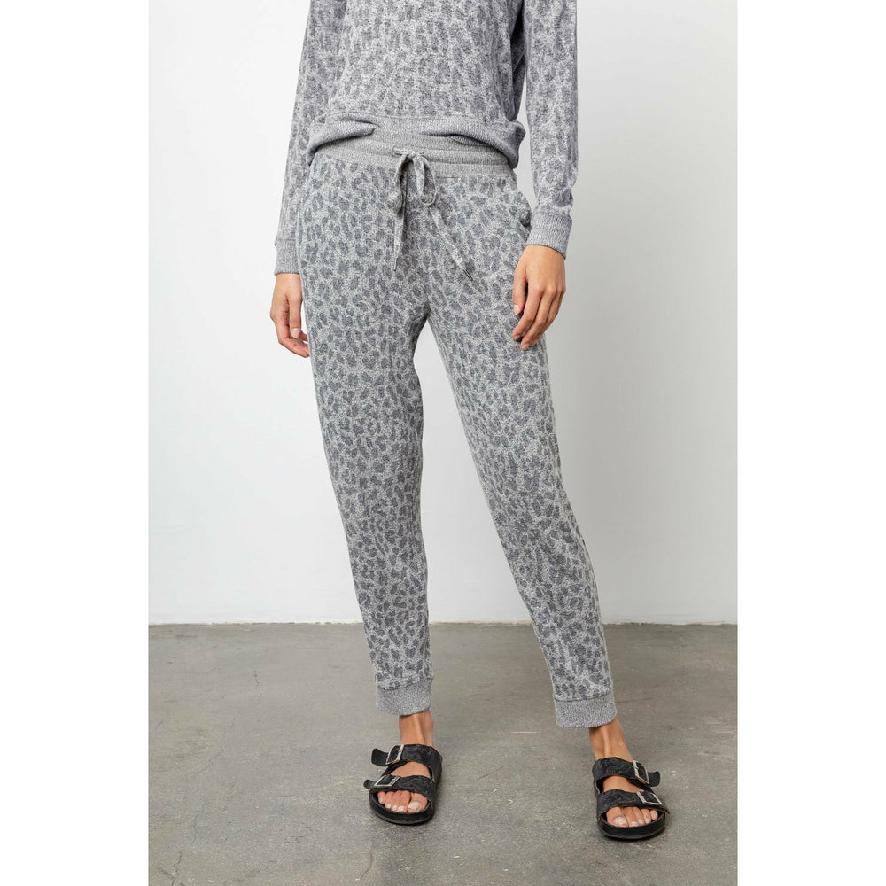 Rails Devon Pants - Melange Grey Leopard