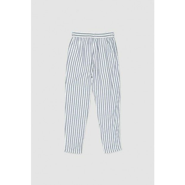 Huffer Farrow Alpine Pant - Navy/White