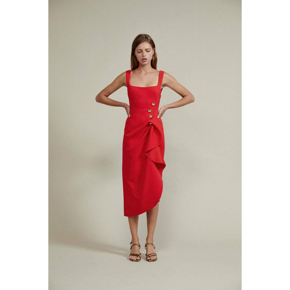 Acler Thistle Dress - Cherry