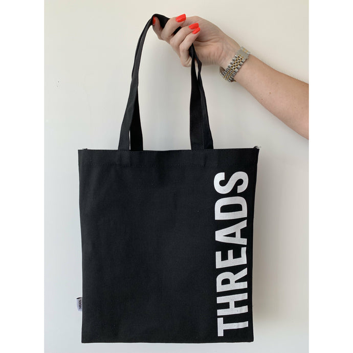 Threads Tote Bags - Black