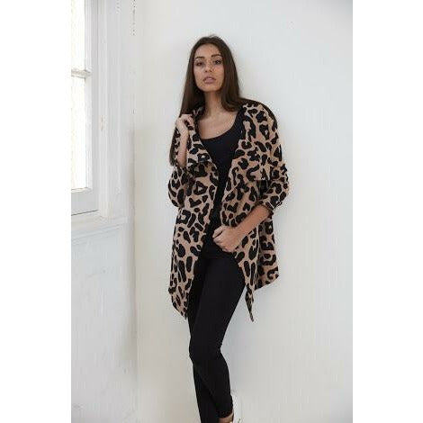 Cartel & Willow Carlin Cardi - Blush Leopard