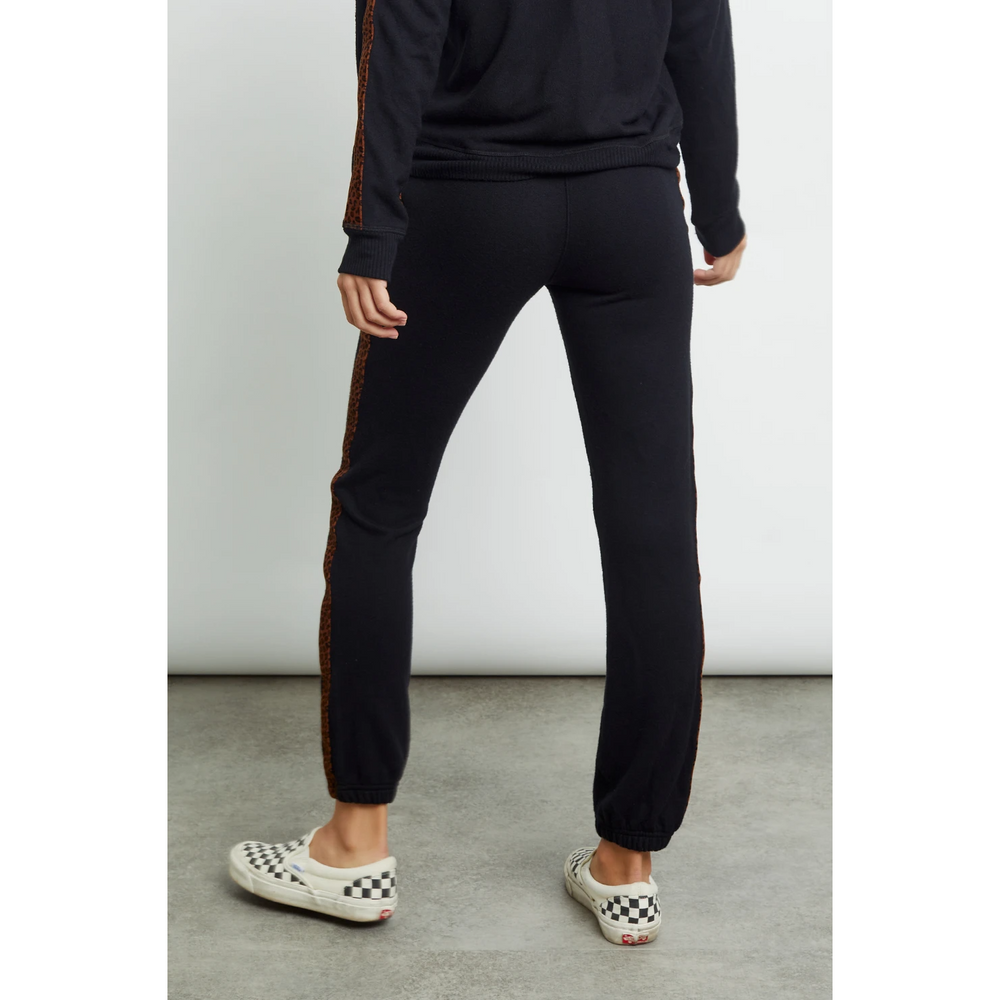 Rails Kingston Pant - Black Velvet Leopard